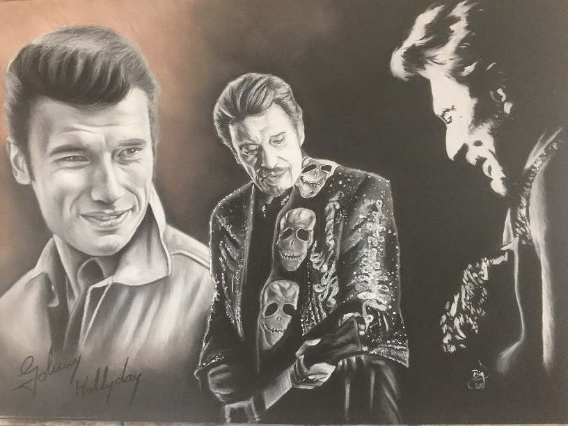Johnny Hallyday by crokportrait